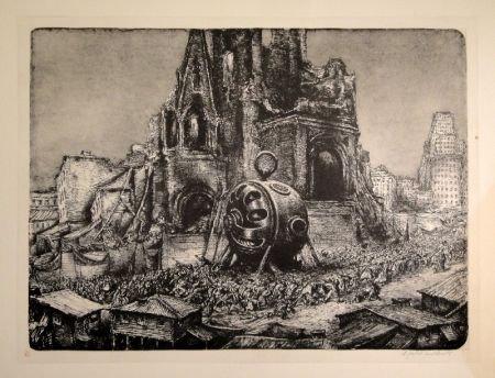 リトグラフ Weber - Die Prozession