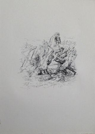 リトグラフ Slevogt - Die Schlacht bei Kunaxa