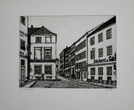 彫版 Vetter - Die Sperlingsgasse