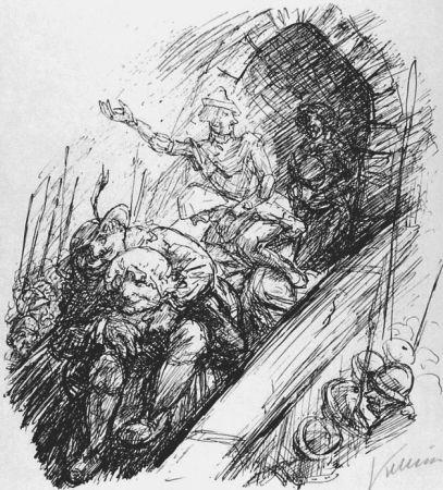 リトグラフ Kubin - Die Weider von Weinsberg