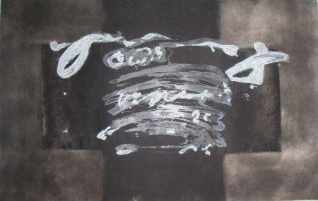 彫版 Tapies - Diptyque Avec Croix