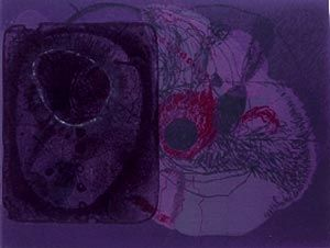 リトグラフ Brown - Disappeared and reappeared