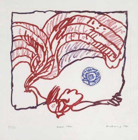 彫版 Alechinsky - Disque bleu