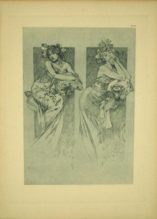 リトグラフ Mucha - Document Décoratif  Planche N°12