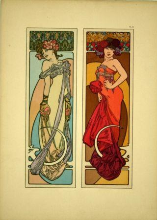 リトグラフ Mucha - Document décoratif  Planche n° 45