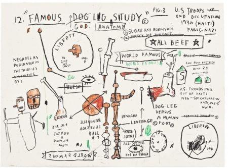 シルクスクリーン Basquiat - Dog Leg Study