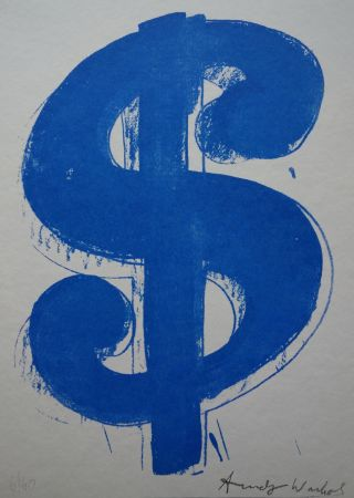 シルクスクリーン Warhol (After) - Dollar Sign