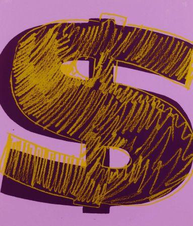 シルクスクリーン Warhol - Dollar Sign, Orange (FS II.276)