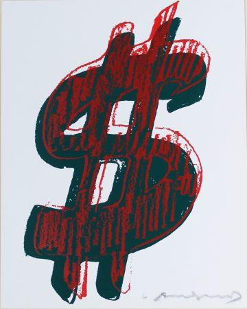 シルクスクリーン Warhol - Dollar Sign, Red (FS II.278)