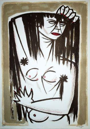リトグラフ Migneco - Donna