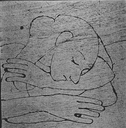 木版 Casorati - Donna che si riposa