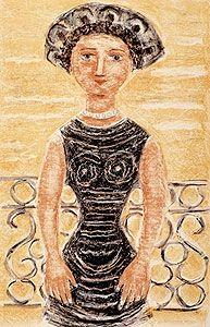 リトグラフ Campigli - Donne al balcone