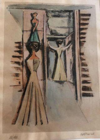 リトグラフ Campigli - Donne alla finestra