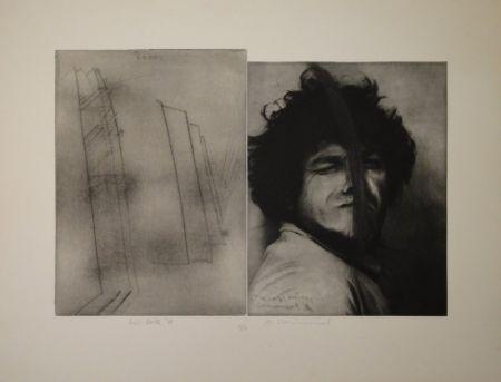 彫版 Rainer - Doppelporträt oder Stirnspalt