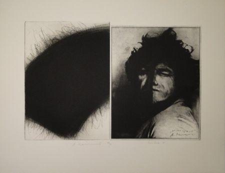 彫版 Roth - Doppelporträt oder Stirnspalt