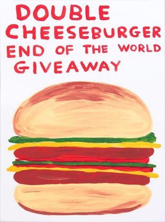 シルクスクリーン Shrigley - Double Cheeseburger End Of The World Giveaway