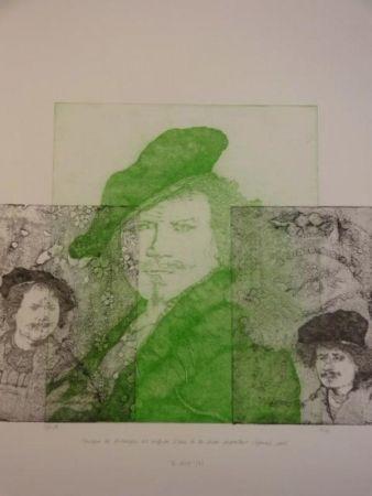 彫版 Gendre-Bergère -  Double Je. Improvisation autour d'autoportraits gravés de Rembrandt