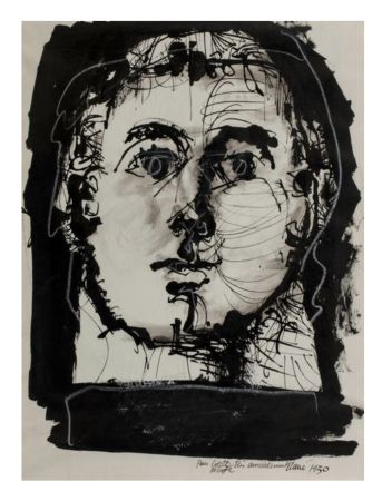 技術的なありません Clavé - Double portrait (recto-verso)