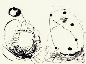 リトグラフ Brown - Double shape