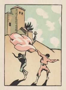 木版 Hermann-Paul - Douze dessins pour amour de Goya, composés et gravés par Hermann-Paul