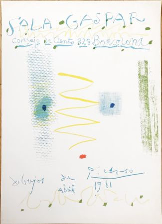 リトグラフ Picasso - Drawings by Picasso - poster - Sala Gaspar, Barcelona (