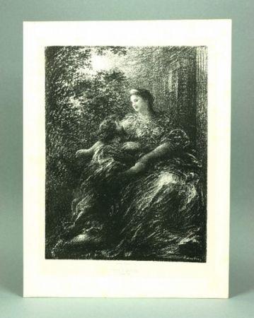 リトグラフ Fantin-Latour - Duo des Troyens (6º planche)