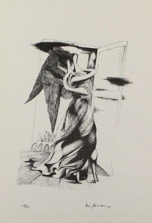 リトグラフ Zimmermann - Durch ein Nadelöhr III / Through a Needle's Eye III