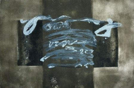 彫版 Tàpies - Dyptique avec croix
