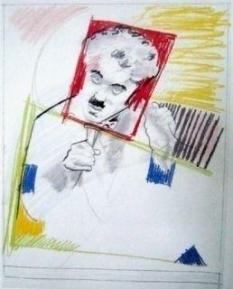 シルクスクリーン Rivers - Early Chaplin