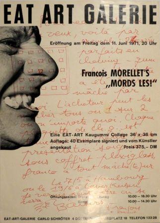 """オフセット Morellet - Eat Art Gallery Carlo Schröter. Francois Morellet's """"Mords Les!"""""""