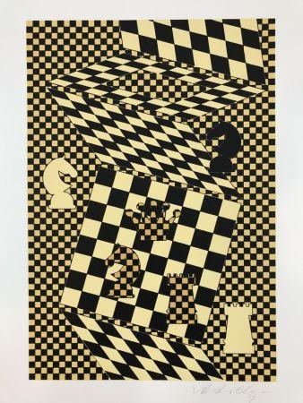 リトグラフ Vasarely - ECHIQUIER