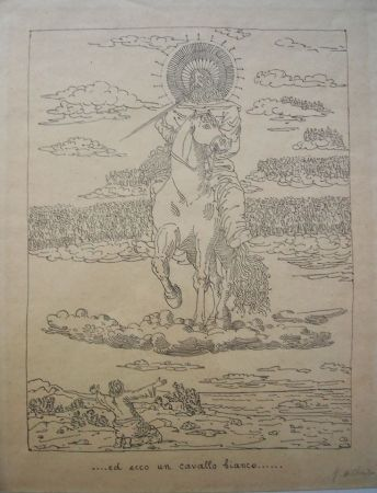 リトグラフ De Chirico - Ed ecco un cavallo bianco