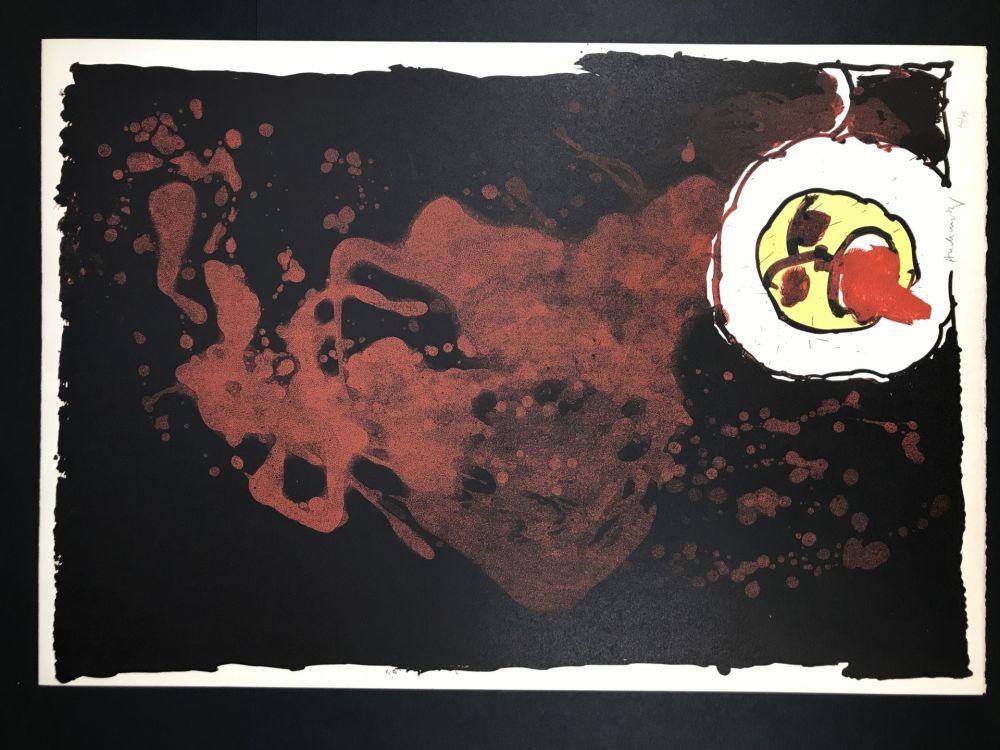 リトグラフ Alechinsky - Edgar (le tireur de langue)