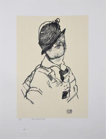 リトグラフ Schiele - EDITH SCHIELE, 1915