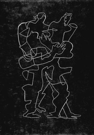 エッチング Zadkine - Efant aux mains coupées parmi les poses oriflammes