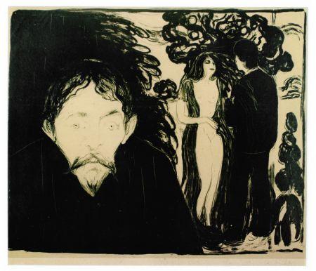 リトグラフ Munch - Eifersucht (Jealousy)