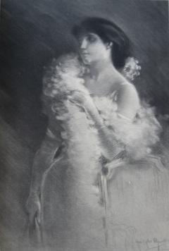 メゾチント彫法 Piguet - Elégante