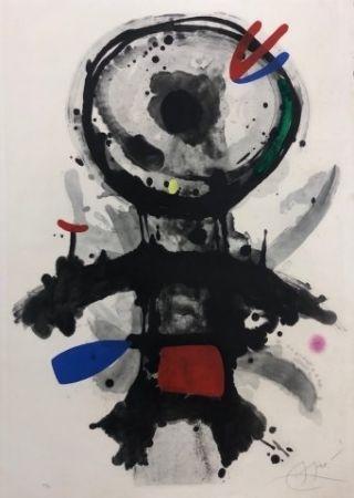 エッチング Miró - El angel acribillado