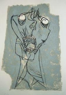 彫版 Guayasamin - El grito 1