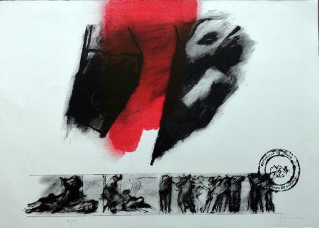 リトグラフ Balmes - El rojo gota a gota va naciendo