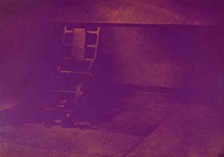 シルクスクリーン Warhol - ELECTRIC CHAIR FS II.76