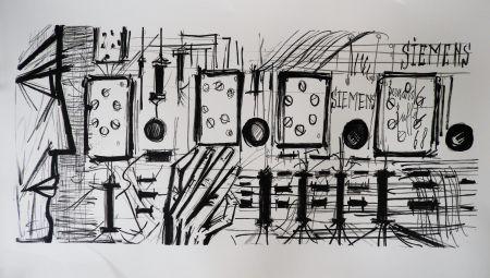 リトグラフ Buffet - Electronic Circuits, Siemens,
