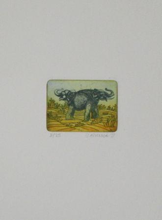 エッチングと アクチアント Franke - Elefanten