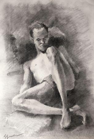 技術的なありません Bonabel - Eliane Bonabel / Louis-Ferdinand Céline - DESSIN ORIGINAL / ORIGINAL DRAWING - Nu Masculin / Male Nude - 1939