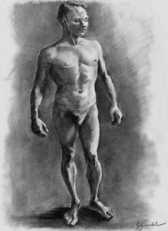 リトグラフ Bonabel - ELIANE BONABEL / Louis-Ferdinand Céline - Litographie Originale / Original Lithograph - Nu Masculin / Male Nude - 1938