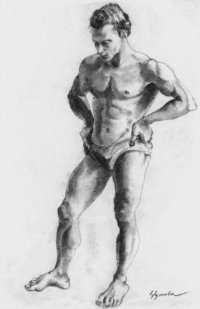 リトグラフ Bonabel - ELIANE BONABEL / Louis-FerdinandCéline - Nu Masculin / Male Nude  - 1938