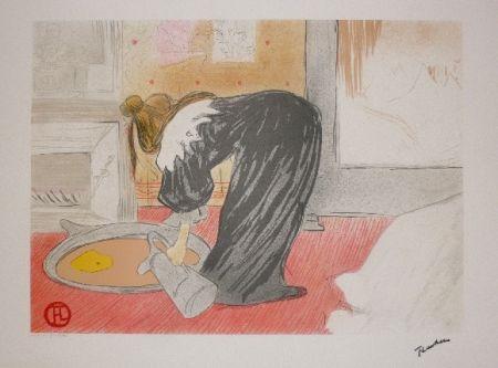 リトグラフ Toulouse-Lautrec - Elles, femme au tub