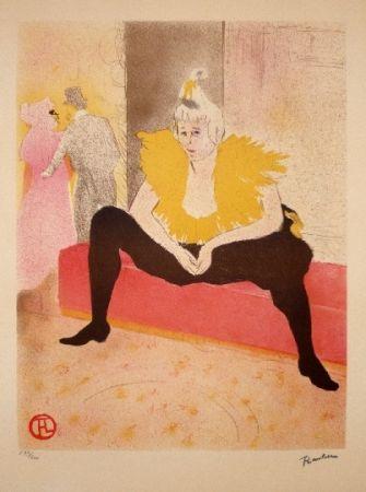 リトグラフ Toulouse-Lautrec - Elles, La Clownesse assise