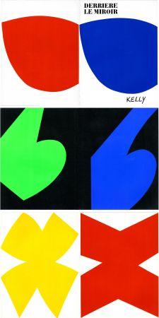 挿絵入り本 Kelly - ELLSWORTH KELLY. Derrière Le Miroir n° 110. Octobre-novembre 1958. 6 LITHOGRAPHIES ORIGINALES.