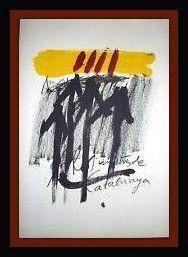 リトグラフ Tapies - Els Mestres De Catalunya